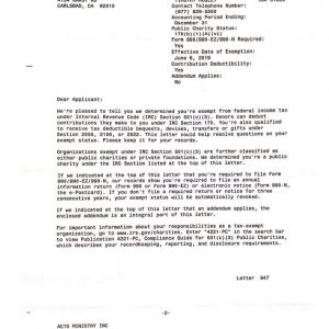 IRS - 501c3